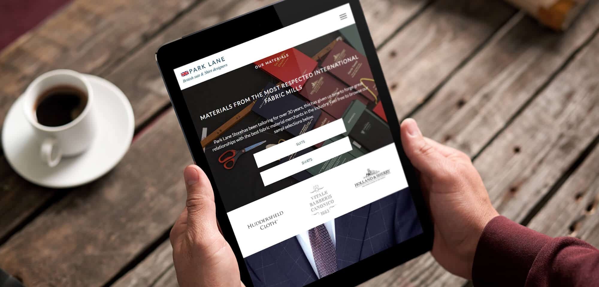 website-design-tailors-park-lane-store-ipad-view