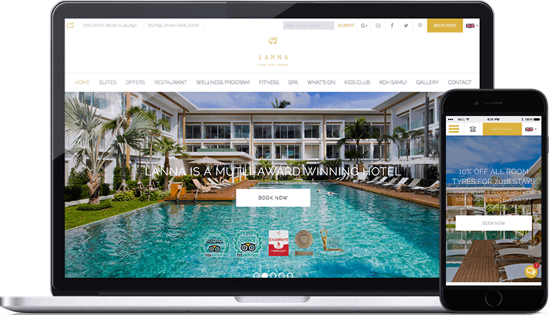 Lanna Samui website design