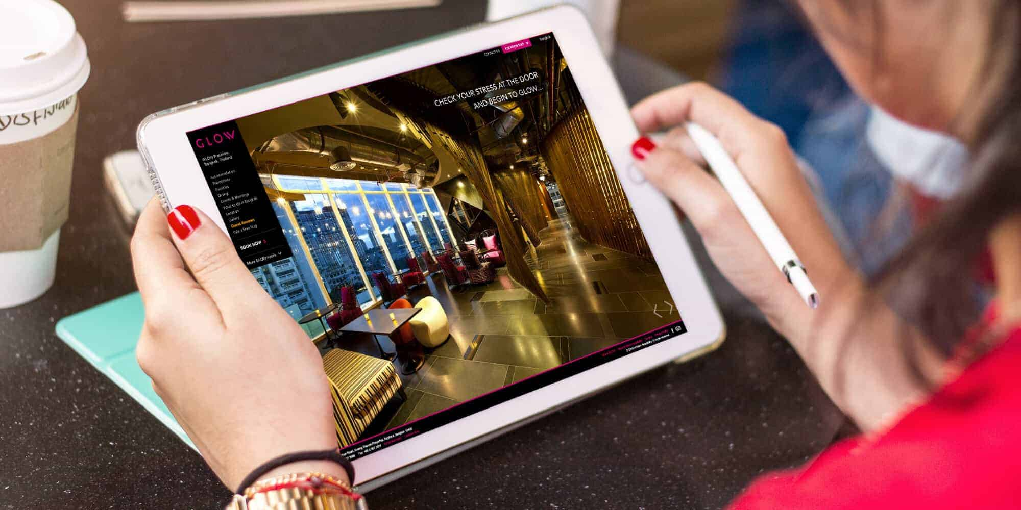 glow-hotels-web-design-ipad